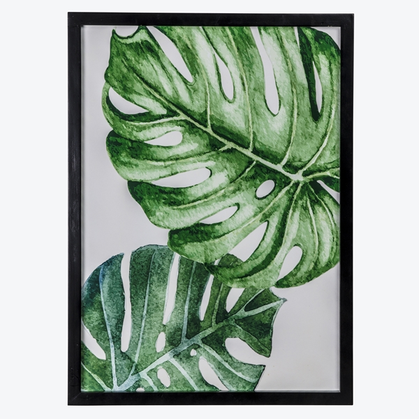 Pure green monstera poster bilde